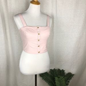 Abercrombie and Fitch pink crop top size s